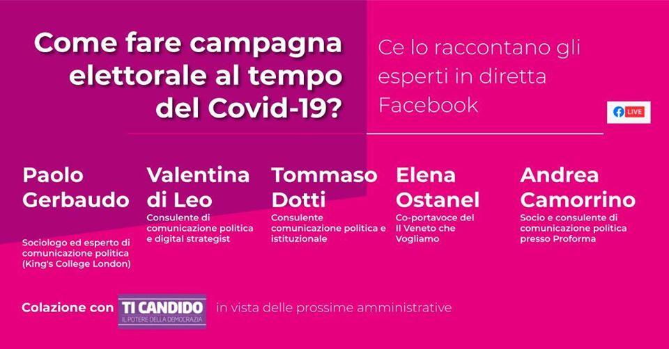 Come fare campagna elettorale ai tempi del Covid 19?